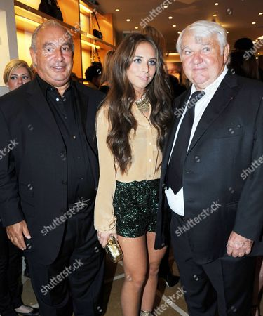 Sir Philip Green and his daughter Chloe with Philippe Cassegrain