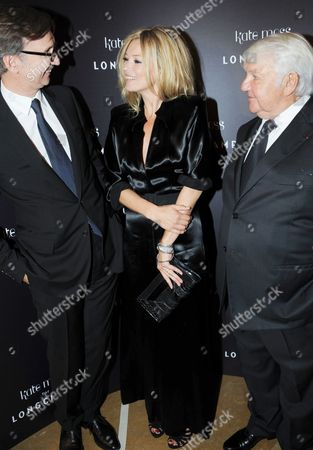 Stock Photo of Kate Moss with Jean and Philippe Cassegrain