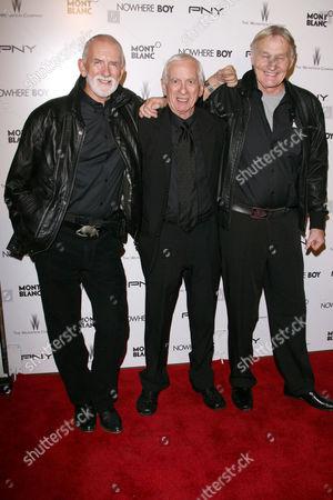 Stock Photo of Rod Davis, Colin Hanton and Len Garry of The Quarrymen