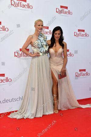 Franziska Knuppe and Bettina Zimmermann at the Raffaello Summer Dinner 2021 in Berlin