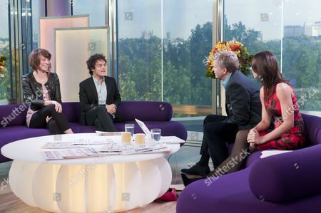 Emma Gillespie and Jamie Cullum with Adrian Chiles and Christine Bleakley