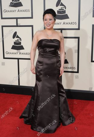 Angelin Chang arrives at the 50th annual Grammy Awards at the Staples Center  in Los Angeles on February 10, 2008.