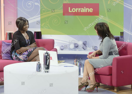 Stock Picture of Khadija Amin daughter of Idi Amin with host Lorraine Kelly