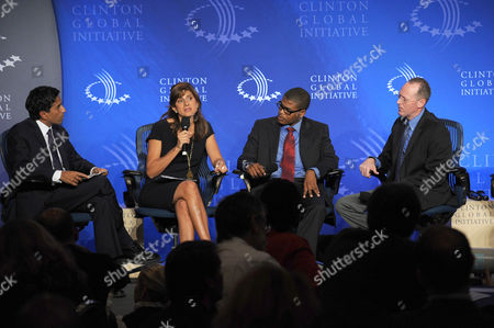 Dr. Sanjay Gupta, Princess Dina Mired, Charles-Patrick Almazor and Paul Farmer