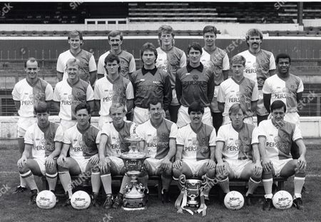 Blackburn Rovers Football Club Team Group 1987/88 Back Row From Left: Alastair Dawson Ian Millar Colin Hendry Keith Hill David Mail. Middle Row From Left: Chris Price Simon Barker Tony Diamond Terry Grennoe Vince O'keefe John Millar And Howard Gayle. Front Row From Left: Scott Sellars Sean Curry Mark Patterson Nicky Reid Chris Sulley Alan Ainscow And Simon Garner.
