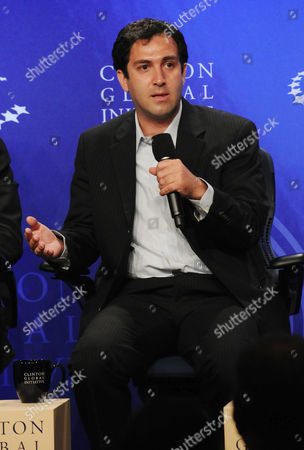 Stock Image of Omid Memarian during the panel session, Democracy and Voice: Technology for Citizen Empowerment and Human Rights