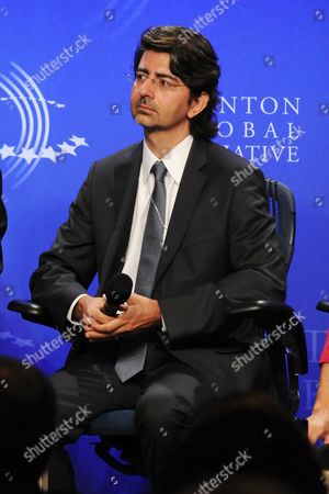 Stock Picture of Pierre Omidyar during the panel session, Democracy and Voice: Technology for Citizen Empowerment and Human Rights