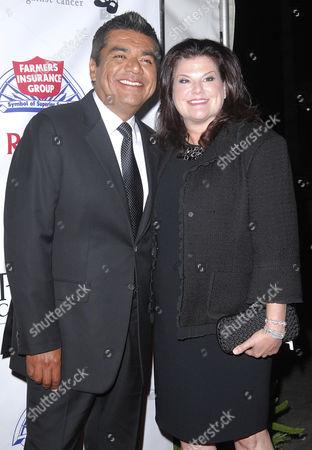 Stock Image of George Lopez, Ann Serrano Lopez