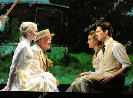 'Birdsong' - Genevieve O'Reilly (Isabelle), Iain Mitchell (Berard), Florence Hall (Lisette) and Ben Barnes (Stephen)