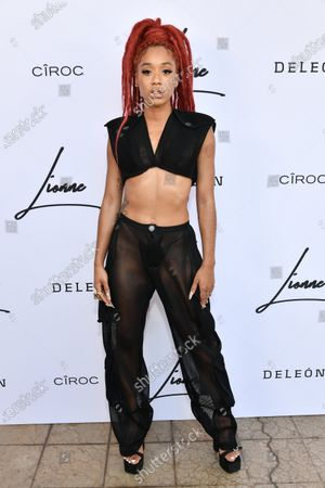 Editorial picture of Lionne Fall/Winter 21 show, Arrivals, Los Angeles, California, USA - 15 Aug 2021