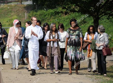 Editorial image of Michelle Obama hosts First Lady's luncheon, Pocantico Hills, New York, America - 24 Sep 2010