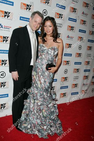 Stock Picture of Ben Mezrich, author of the book and wife Tonya Chen