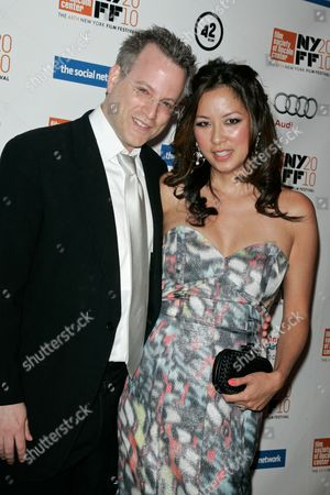 Ben Mezrich, author of the book and wife Tonya Chen