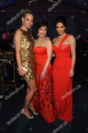 Molly Sims, Lynda Resnick and Kim Kardashian West