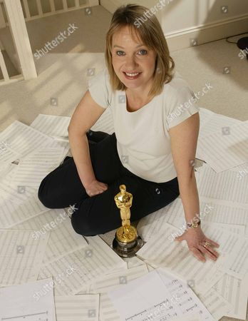 Anne Dudley with her Oscar