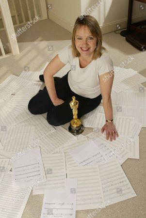 Stock Picture of Anne Dudley with her Oscar