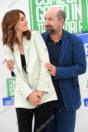 Stock Picture of Paola Cortellesi and Antonio Albanese