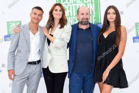 Stock Image of Simone De Bianchi, Paola Cortellesi, Antonio Albanese Alice Maselli