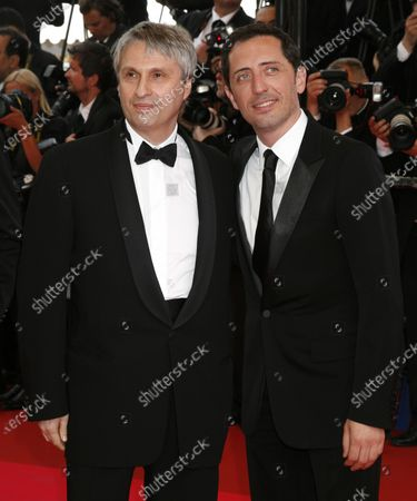 Alain Goldman (L) and Gad Elmaleh arrive on the red carpet for the opening of the 61st Annual Cannes Film Festival in Cannes, France on May 14, 2008.