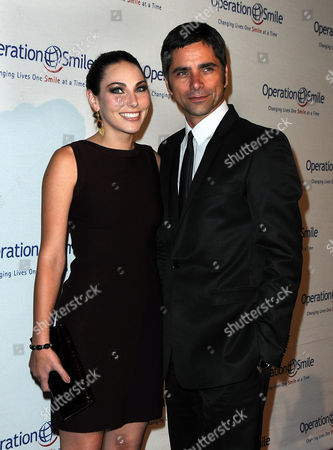 Stock Picture of Leah Marsh, John Stamos