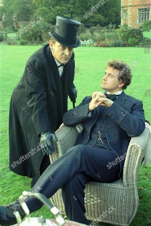 The Dying Detective -   Jeremy Brett as Sherlock Holmes and Richard [AKA Hugh] Bonneville as Victor Savage.