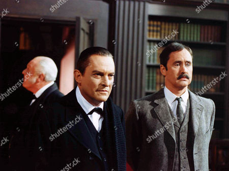 The Golden Pince Nez -   Jeremy Brett as Sherlock Holmes and Nigel Planer as Inspector Hopkins.