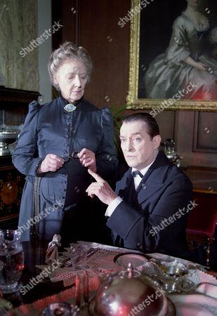 The Golden Pince Nez -  Rosalie Williams as Mrs Hudson and Jeremy Brett as Sherlock Holmes.