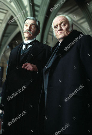 The Mazarin Stone -  Charles Gray as Mycroft Holmes and James Villiers as Lord Cantlemere.