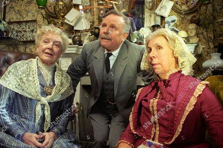 The Mazarin Stone -  Phyllis Calvert as Agnes Garrideb, Edward Hardwicke as Doctor Watson and Barbara Hicks as Emily Garrideb.