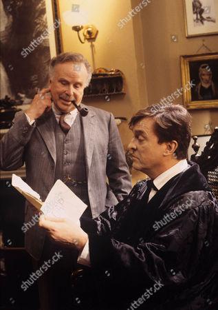 The Red Circle -  Edward Hardwicke as Doctor Watson and Jeremy Brett as Sherlock Holmes.