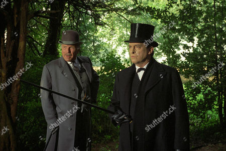 Stock Picture of The Three Gables -  Edward Hardwicke as Doctor Watson and Jeremy Brett as Sherlock Holmes.