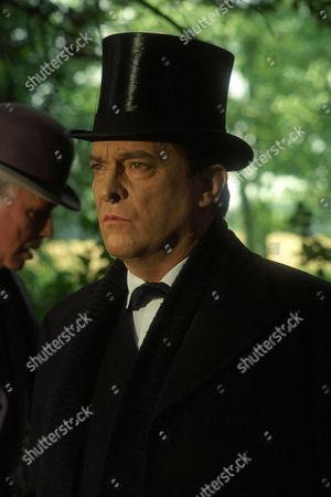 Stock Photo of The Three Gables -  Edward Hardwicke as Doctor Watson and Jeremy Brett as Sherlock Holmes.