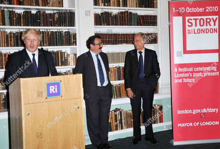 Stock Picture of Boris Johnson, Robert Winston and Sir Richard Sykes