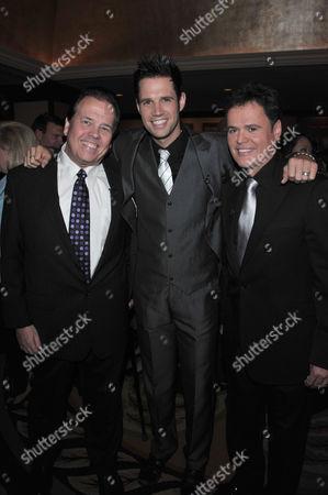 Alan Osmond, David Osmond and Donny Osmond (L-R)