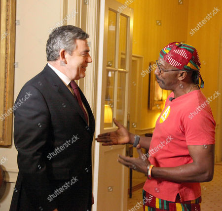 Motivate Britain - Mr Motivator Derrick Evans meets with The Prime Minister at 10 Downing Street, as part of GMTV's Get motivated campaign.