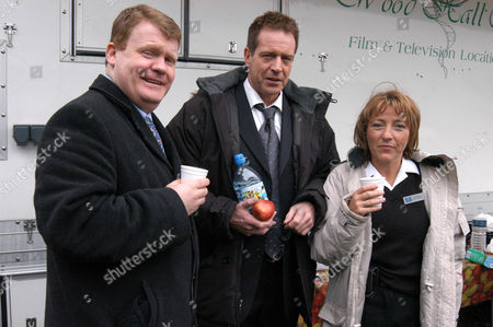 Stock Image of Alan Fisher with Jack Ellis and Tracey Wilkinson