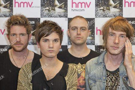 Stock Image of Fenech-Soler - Ross Duffy, Ben Duffy, Dan Soler and Andrew Lindsay