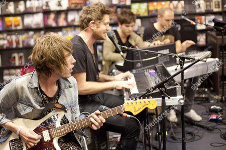 Stock Photo of Fenech-Soler - Ross Duffy, Ben Duffy, Dan Soler and Andrew Lindsay