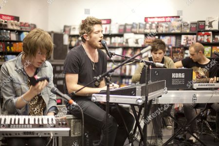 Editorial image of Fenech-Soler launch debut album at HMV Peterborough, Britain - 27 Sep 2010
