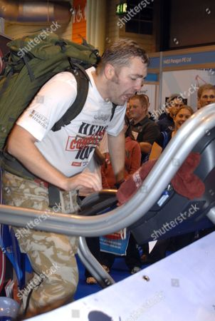 Editorial image of Mike Buss finishes his 100th marathon in 100 days at the NEC, Birmingham, Britain - 23 Sep 2010
