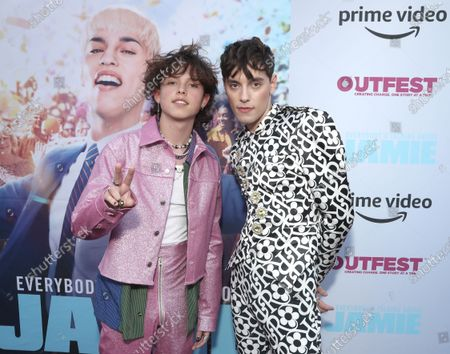 """Stock Picture of Jacob Sartorius and Max Harwood attend Amazon Studios """"Everybody's Talking About Jamie"""" Premiere at Outfest on Fri Aug 13, 2021 in Los Angeles."""