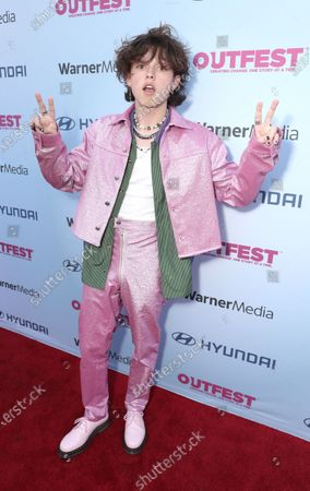"""Jacob Sartorius attends Amazon Studios """"Everybody's Talking About Jamie"""" Premiere at Outfest on Fri Aug 13, 2021 in Los Angeles."""