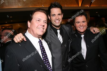 Stock Image of Alan, David and Donny Osmond