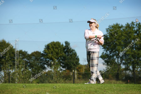 Stock Picture of Radio one presenter Bethan Elfyn tees off on the first hole.