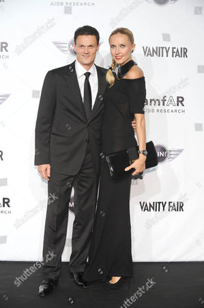Stock Photo of Christian Kremer and wife