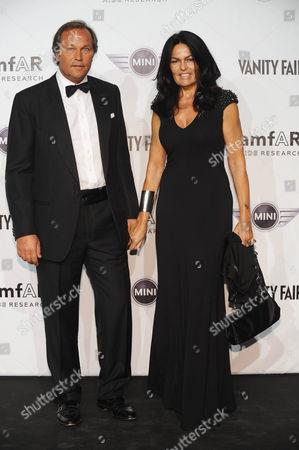 Stock Image of Cristina Ferrari and guest