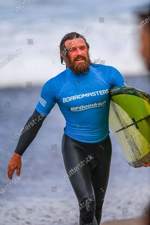 Ben Skinner during the BF Goodrich Men's Longboard Open at the Boardmasters Surfing Championship 2021 at Fistral Beach, Newquay