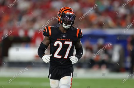 Cincinnati Bengals defensive back Tony Brown (27) against the Tampa Bay Buccaneers during the first half of an NFL preseason football game, in Tampa, Fla