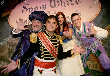 Editorial image of Snow White and The Seven Dwarfs pantomime photocall at the Ambassadors Theatre Woking, Surrey, Britain - 29 Sep 2010