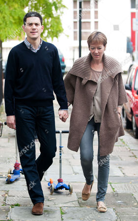Editorial image of David Miliband and wife Louise leaving their Primrose Hill home, London, Britain - 30 Sep 2010